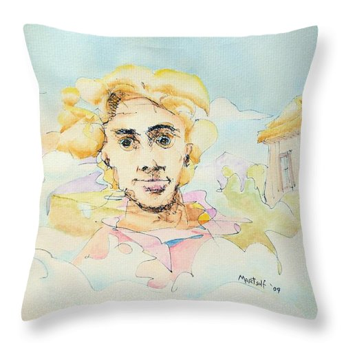 Air Throw Pillow featuring the painting The Good Man by Dave Martsolf