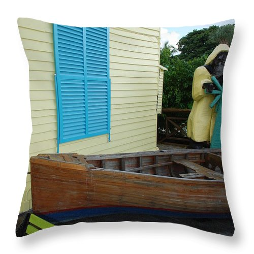 Architecture Throw Pillow featuring the photograph The Gordons Fisherman House by Rob Hans