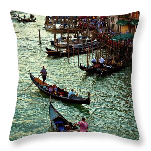 Venice Photographs Throw Pillow featuring the photograph The Grand Canal Venice by Harry Spitz