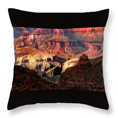 Arizona.the Grand Canyon Throw Pillow featuring the photograph The Grand Canyon I by Tom Prendergast