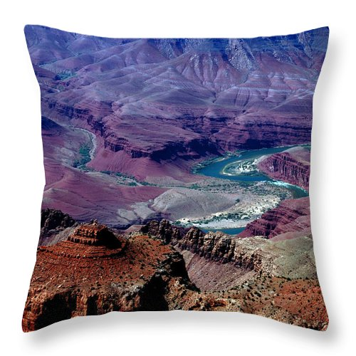 Photography Throw Pillow featuring the photograph The Grand Canyon by Susanne Van Hulst