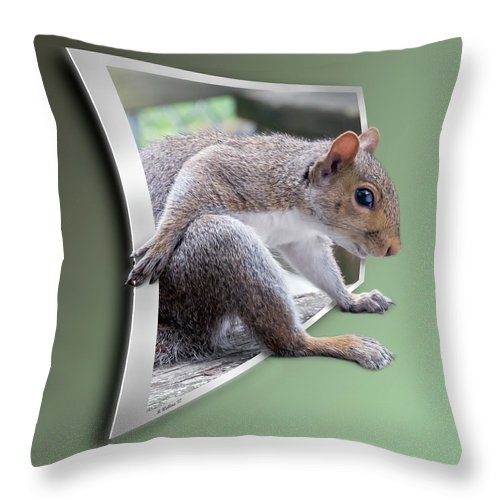 2d Throw Pillow featuring the photograph The Great Escape by Brian Wallace