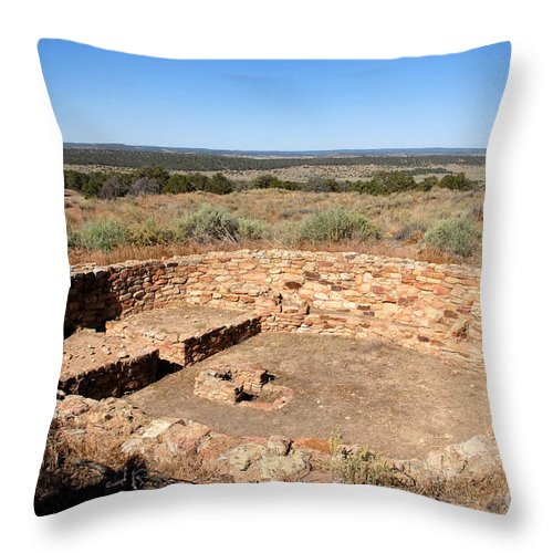 Great Kiva Throw Pillow featuring the photograph The Great Kiva by David Lee Thompson