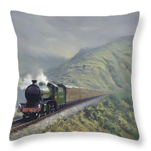Steam Throw Pillow featuring the painting the Great Marquess by Richard Picton