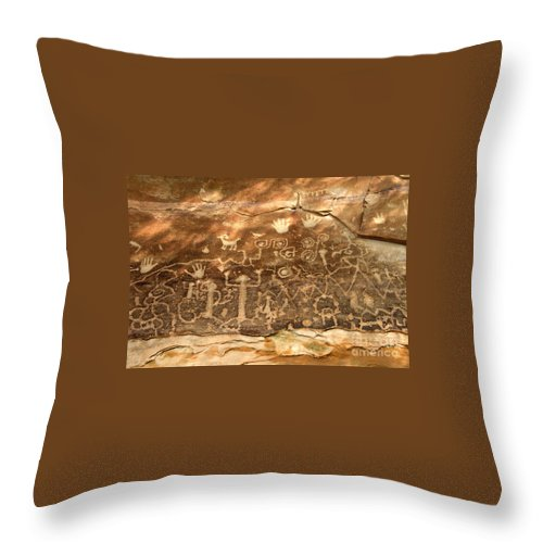Anasazi Throw Pillow featuring the photograph The Great Panel by David Lee Thompson