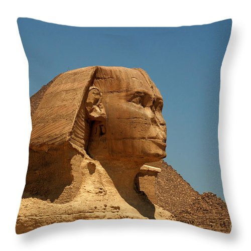 Africa Throw Pillow featuring the photograph The Great Sphinx Of Giza by Joe Ng