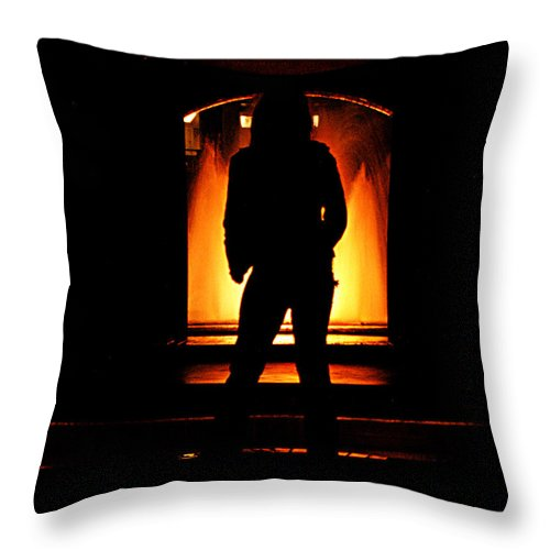 Clay Throw Pillow featuring the photograph The Guardian by Clayton Bruster
