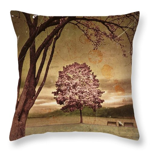 Trees Throw Pillow featuring the photograph The Guardian by Tara Turner