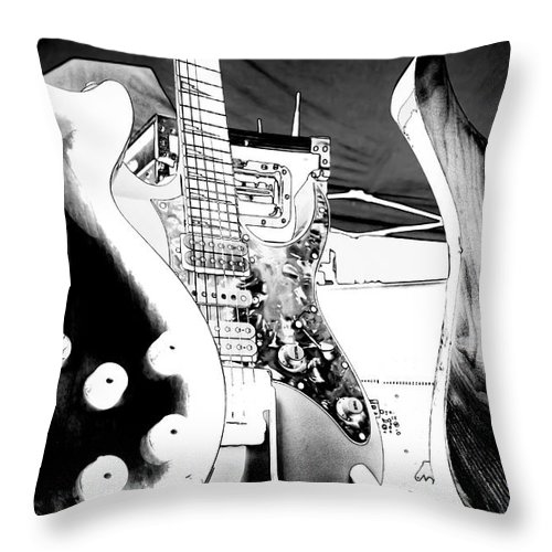 The Guitars Throw Pillow featuring the photograph The Guitars by David Patterson