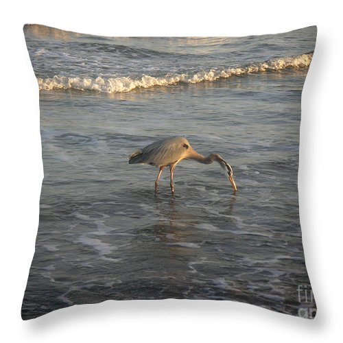 Nature Throw Pillow featuring the photograph The Gulf At Twilight - One For The Road by Lucyna A M Green