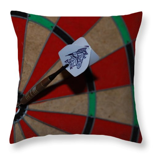 Macro Throw Pillow featuring the photograph The Hans Flight by Rob Hans