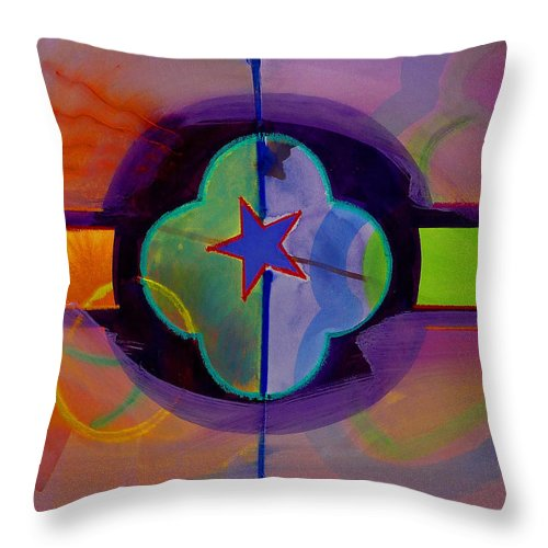 Star Throw Pillow featuring the painting The Happy American by Charles Stuart