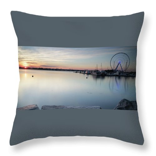 Throw Pillow featuring the photograph The Harbor by Darren Edwards