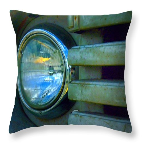 Car Throw Pillow featuring the photograph The Headlight by Tara Turner