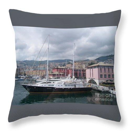 Genova Throw Pillow featuring the digital art The Heart Of Genova. by GPhotoart CPhotoart