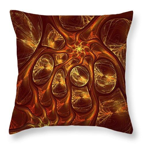 Digital Throw Pillow featuring the digital art The Hebben by Deborah Benoit