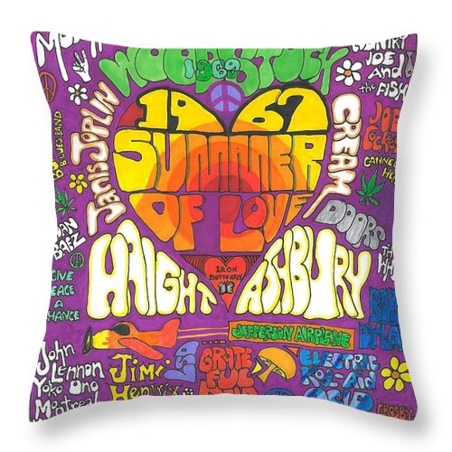 1967 Throw Pillow featuring the drawing The Height of Highness by David Sutter