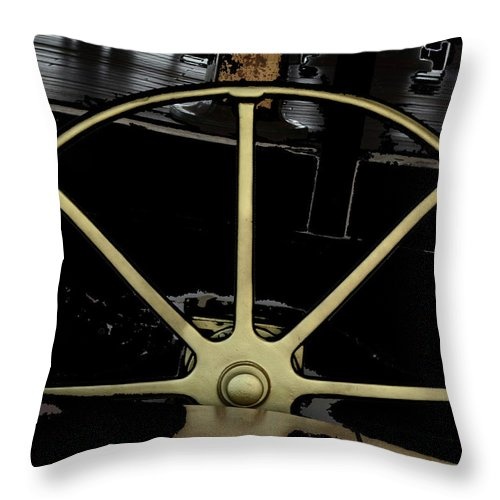 Boats Throw Pillow featuring the photograph The Helm by Coleman Mattingly