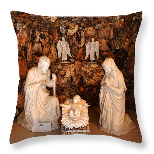 The Holy Family Throw Pillow featuring the photograph The Holy Family by Susanne Van Hulst