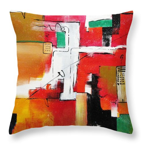 Acrylic Throw Pillow featuring the painting The Hood by Gary Smith