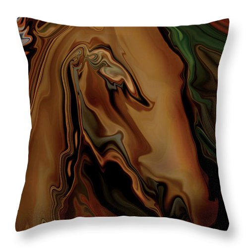 Animal Throw Pillow featuring the digital art The Horse by Rabi Khan