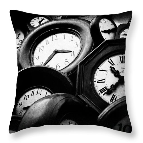 Hours Throw Pillow featuring the photograph The Hours by Nelson Mineiro