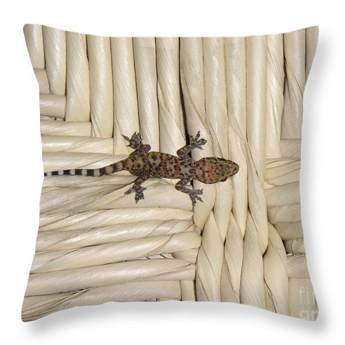 Nature Throw Pillow featuring the photograph The House Guest by Lucyna A M Green