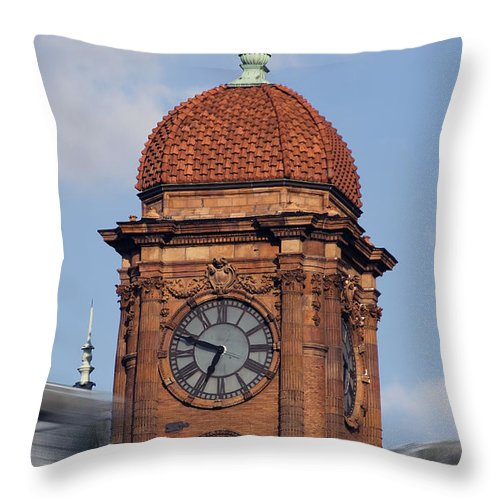 Trains Throw Pillow featuring the photograph The Hub by Kelvin Booker