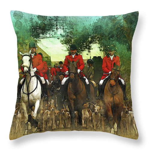 Home Art & Collectibles Throw Pillow featuring the digital art The Hunt Begins by Don Kuing