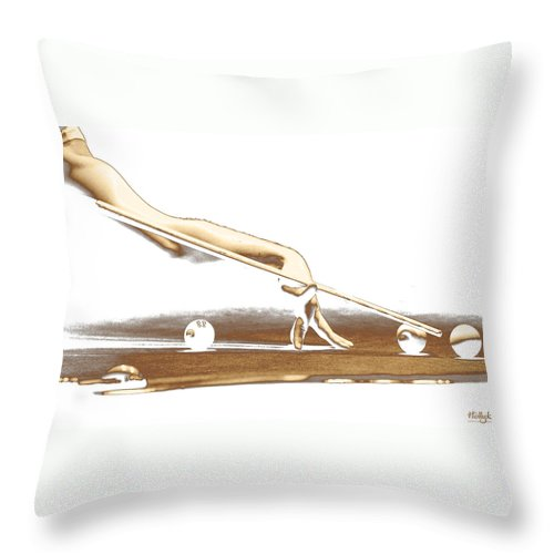Abstract Throw Pillow featuring the photograph The Hustler by Holly Kempe