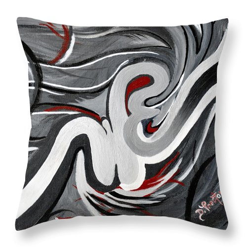 Gray Throw Pillow featuring the painting The I That Is We - Soul Of Diversity by Donna Proctor