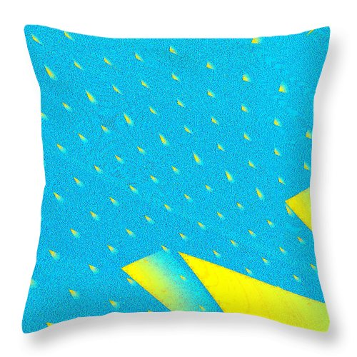 Clay Throw Pillow featuring the digital art The Illusion by Clayton Bruster