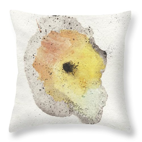 Ink Throw Pillow featuring the painting The Inexplicable Ignition Of Time Expanding Into Free Space Phase Two Number 07 by Mark M Mellon