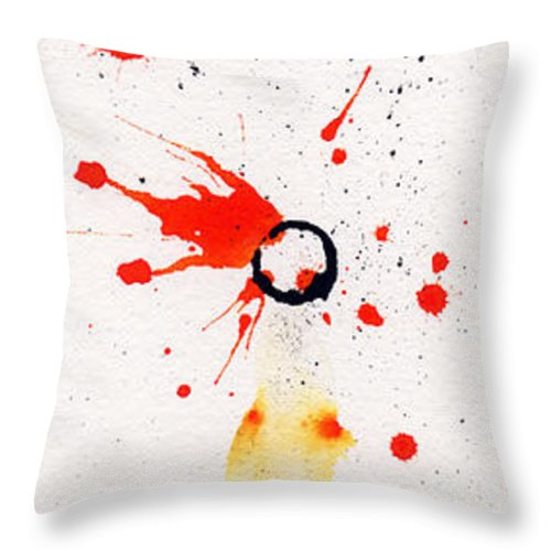 Ink Throw Pillow featuring the painting The Inexplicable Ignition Of Time Expanding Into Free Space Phase Two Number 17 by Mark M Mellon
