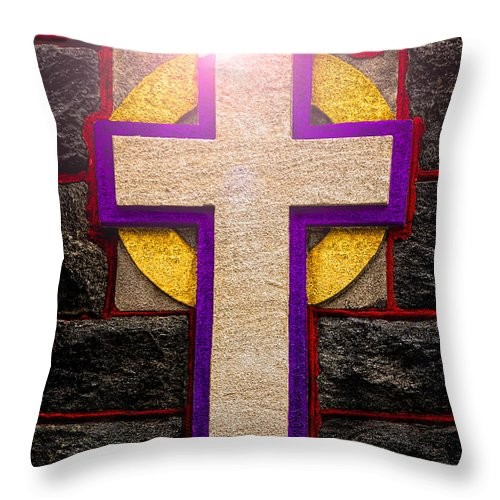 Cross Throw Pillow featuring the photograph The Inner Light by Christopher Holmes