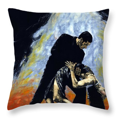 Tango Throw Pillow featuring the painting The Intoxication Of Tango by Richard Young