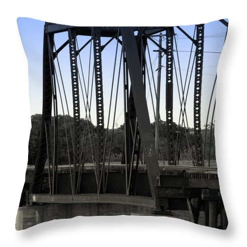 Rail Throw Pillow featuring the photograph The Irons by Elizabeth Hart