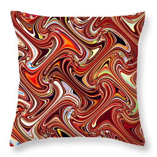 Abstract Throw Pillow featuring the mixed media The I's Have It by Donna Proctor