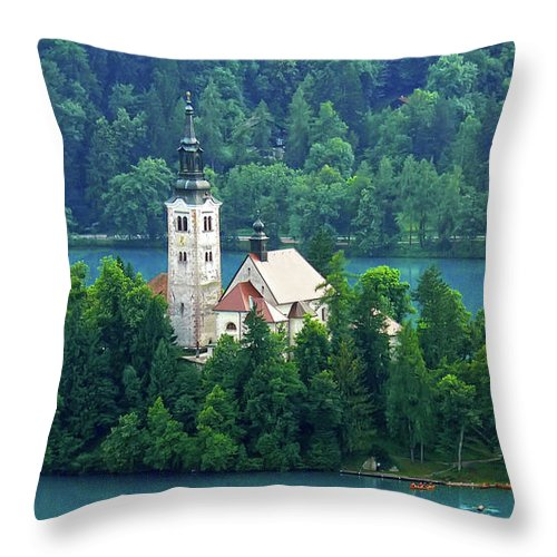 Island Throw Pillow featuring the photograph The Island by Daniel Csoka