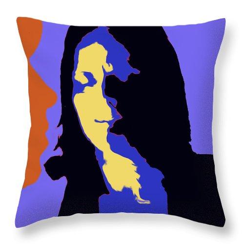 Faces Throw Pillow featuring the digital art The Jazz Singer by Ian MacDonald