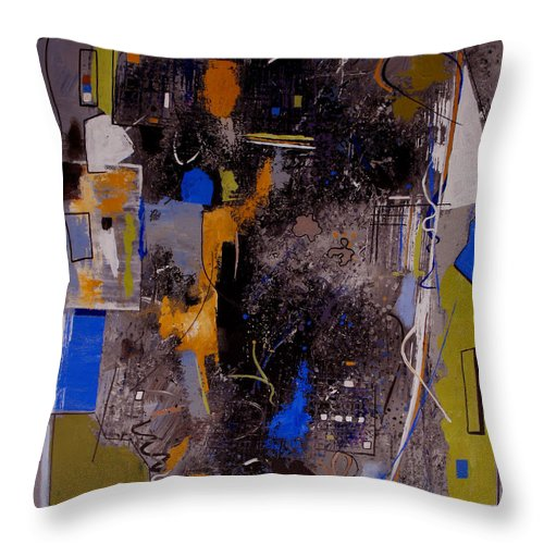 Abstract Throw Pillow featuring the painting The Journey by Ruth Palmer