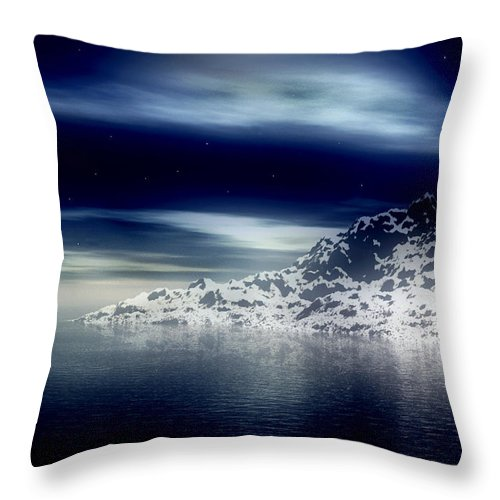 Arctic Throw Pillow featuring the digital art The Journey Together by Kenneth Krolikowski