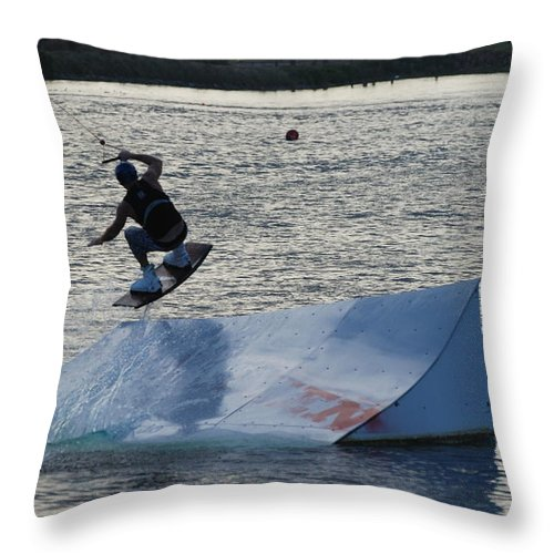 Waves Throw Pillow featuring the photograph The Jumper by Rob Hans