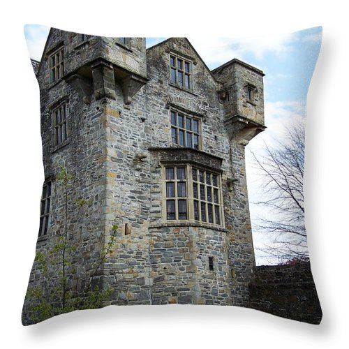 Ireland Throw Pillow featuring the photograph The Keep At Donegal Castle Ireland by Teresa Mucha