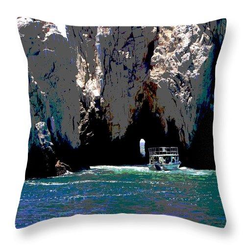 Mexico Throw Pillow featuring the photograph The Keyhole Mexico Cabo San Lucas by Heather Coen
