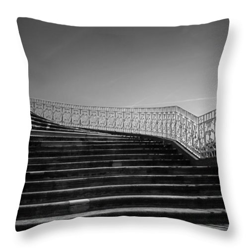 Scenery Throw Pillow featuring the photograph The Kings Steps by Dorit Fuhg