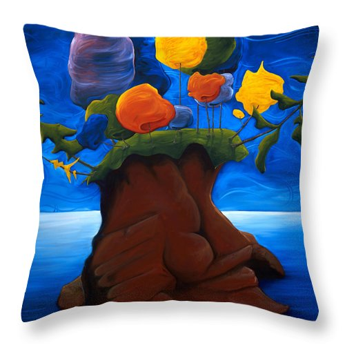Landscape Throw Pillow featuring the painting The Last Haven by Richard Hoedl