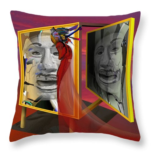 Surrealism Throw Pillow featuring the digital art The Last Laugh by Guy Ciarcia