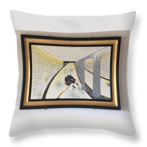 Historical Paintings Throw Pillow featuring the painting The Last Night 0f Princess Diana by MERLIN Vernon