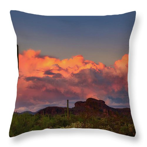 Arizona Throw Pillow featuring the photograph The Last Thunderstorm by Rick Furmanek